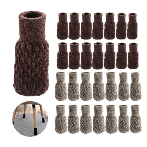 32PCS Chair Leg Socks Knit Non Slip Table Floor Protector Furniture Feet Covers $16.73
