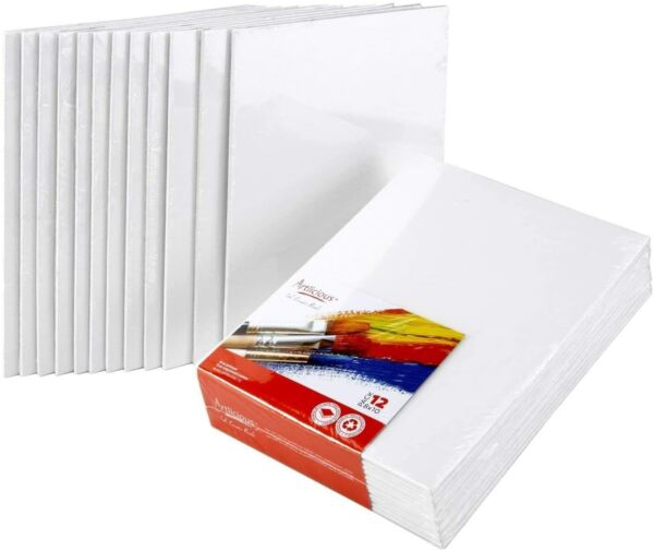 Artlicious Canvas Panels 12 Pack - 8 inch x 10 inch Super Value Pack $26.99