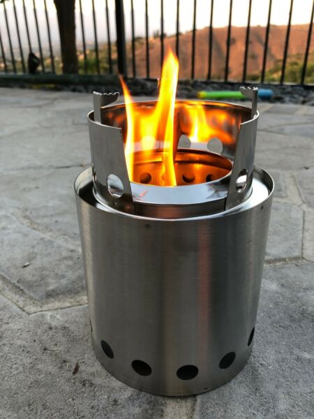 Stainless Steel Camp fire Stove Burner Cooker Outdoor Camping Campfire Stove