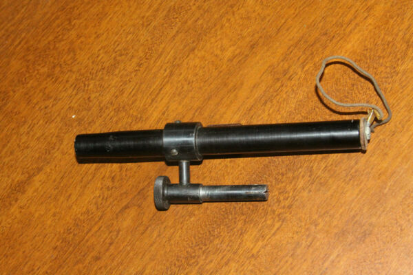 Vintage US Military Boresighter Collimator and Wood Cap $49.95