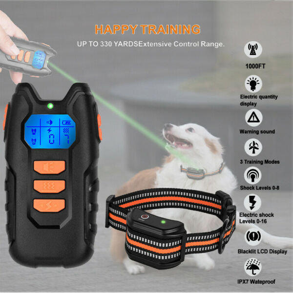 Dog Shock Collar Remote Waterproof Electric for Large Pet Training 1650FT Red $22.99