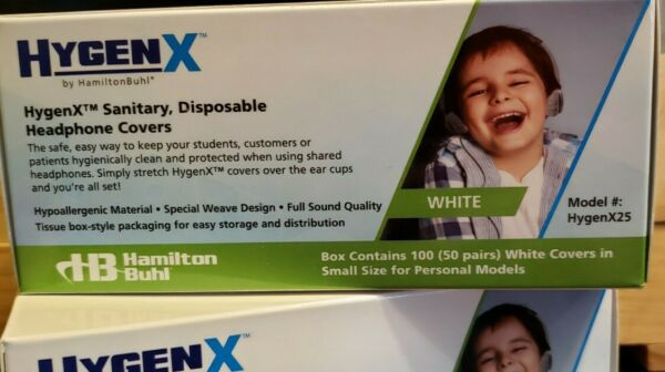 HygenX Headphone Disposable Covers 50 Pairs Small Size personal $11.00