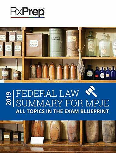 RxPrep Federal Law Summary for MPJE by Karen Shapiro PharmD BCPS Book The Fast