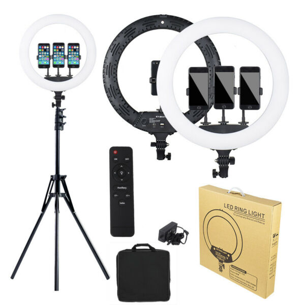 18quot; LED Ring Light Kit with 160cm Tripod Stand Social Media Beauty Shoot Live