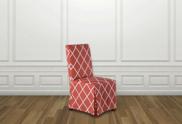 Sure Fit Lattice Dining Room Chair Slipcover with Ties coral $18.95