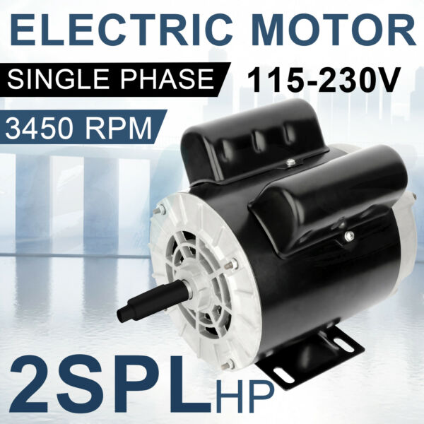 2 HP SPL Air Compressor Duty Electric motor 1 Phase 3450 RPM 56 Frame 5 8quot;Shaft $109.96