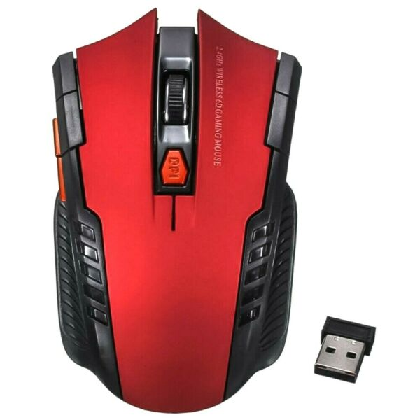 Wireless Gaming Mouse FREE SHIPPING 2.4GHz 1600 DPI Win7 10 Optical Ambidextrous