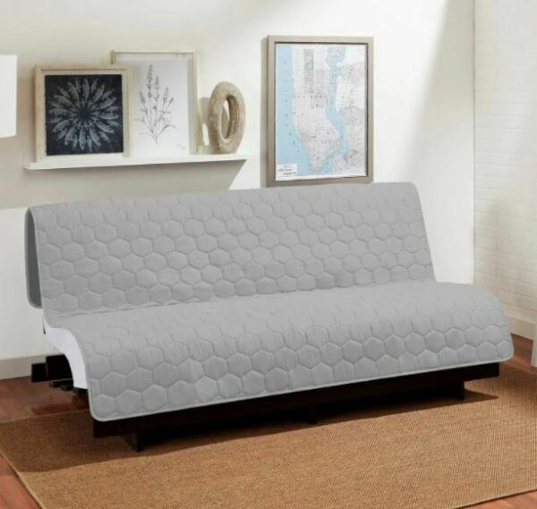 Sure Fit Reversible 3 in 1 Armless Furniture Cover Gray $29.99