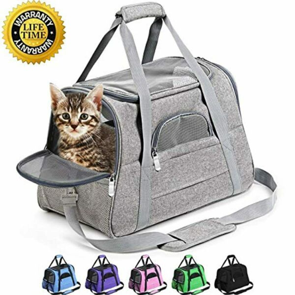 Prodigen Pet Carrier Airline Approved Pet Carrier Dog Carriers for Small Dogs C $31.19