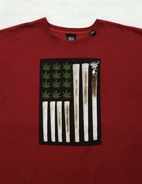 LRG Lifted Research Group USA Joint Chiefs of Staff Flag Sweatshirt XL MINT
