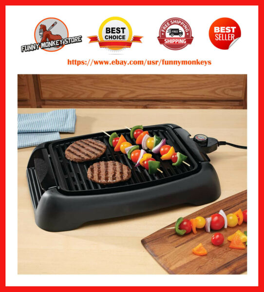Electric Grill Indoor For Barbecue Bbq Kitchen Tabletop Portable Grilling Inside $71.03