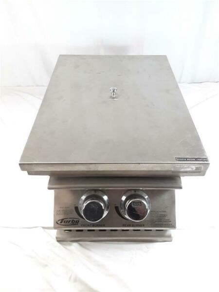 Barbeque Galore 720 0066 NG Turbo STS 2 Burner Natural Gas Burner For Catering $249.99