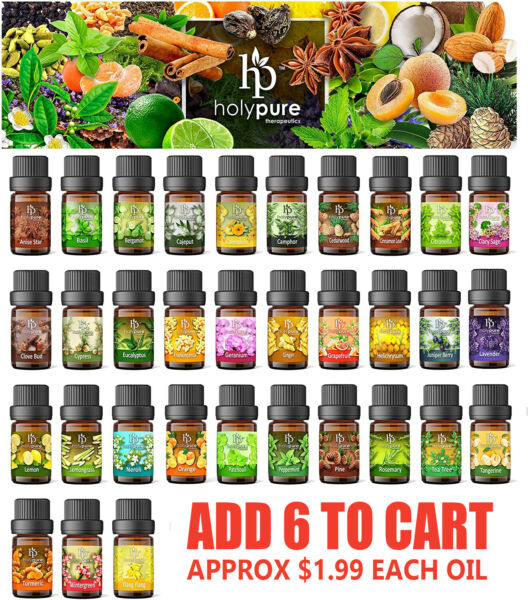 Create A Set Of 6 Essential Oils By Holypure 5ml Only $11.99 NEW
