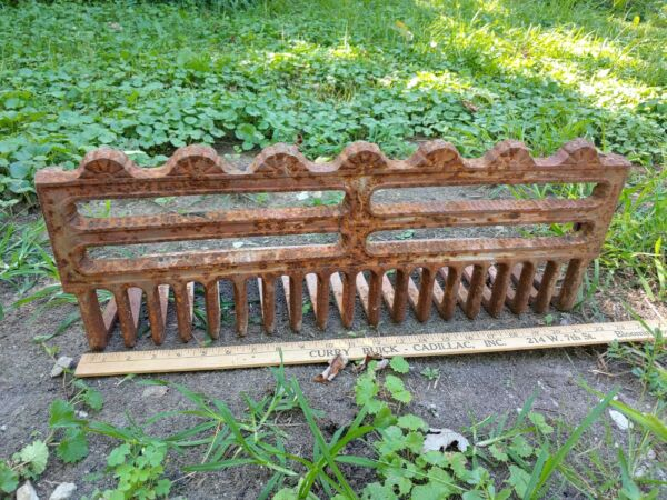 Antique Heavy Cast Iron Fireplace Log Holder Andiron Part Ornate Victorian Art