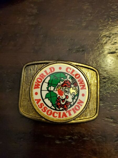 WORLD CLOWN ASSOCIATION VINTAGE BELT BUCKLE