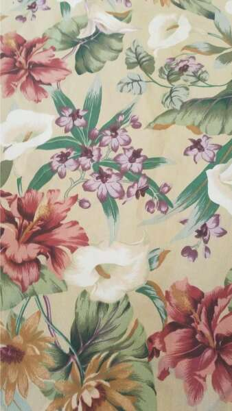 John Wolf jungle outdoor flower print by the yard