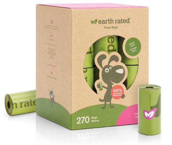 Earth Rated Dog Poop Bags 270 Count Of Leak Proof Lavender Scented Bags 18 Rolls $15.36