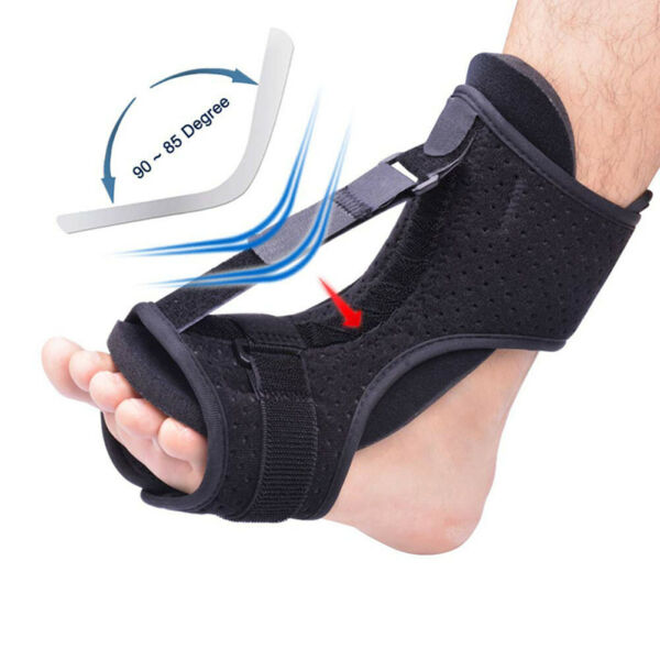Adjustable Elastic Dorsal Plantar Fasciiti Night Splint Foot Drop Orthotic Brace