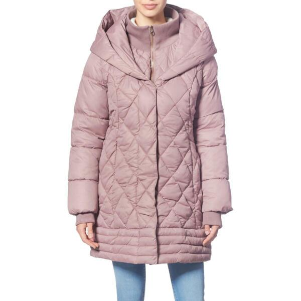 Jessica Simpson Women#x27;s Diamond Quilted Lightweight Winter Puffer Coat with