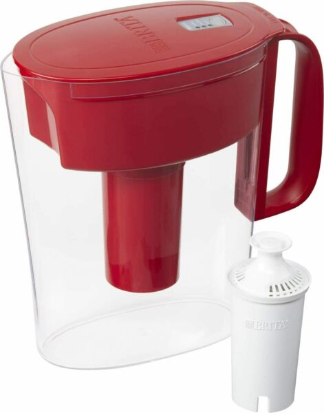 Brita Water Pitcher with 1 Filter 5 Cup Red