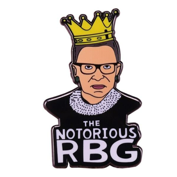 The Notorious RBG Ruth Bader Ginsburg Brooch Enamel Pin Supreme Court @ NEW