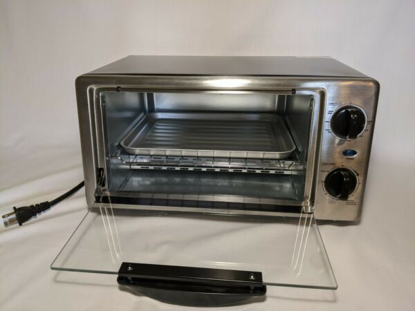 Comfee Toaster Oven Countertop 4 Slice 1000W Timer Bake Extra Large Counter