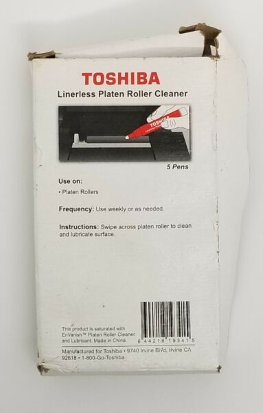 LOTof 5 TOSHIBA Thermal Print head Cleaning Pens Linerless Platen Roller Cleaner