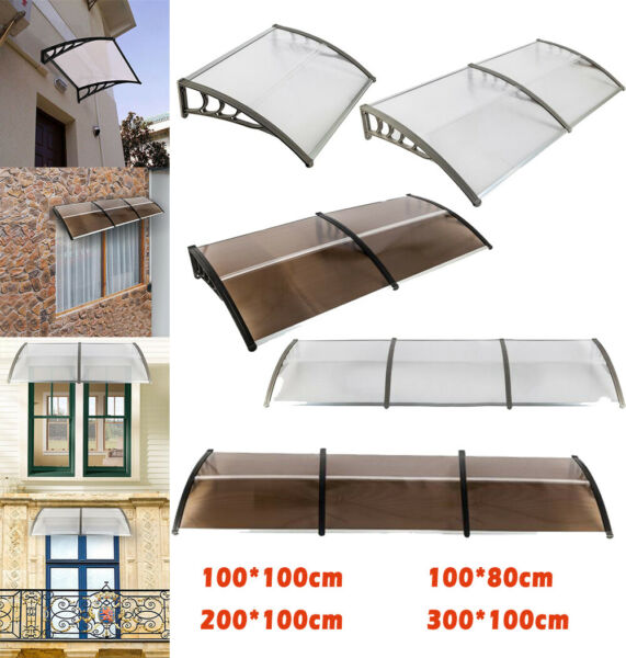 Outdoor Door Window Awning Patio Eaves Canopy Rain Cover UV Protector Durable