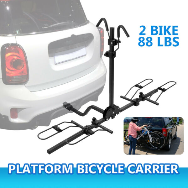 RACK 2 BIKE HITCH MOUNT Carrier Trailer Car Truck SUV Receiver Bicycle Transport $89.99