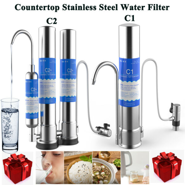 SimPure C1 C2 2Stage Countertop Drinking Water Filter System Ceramic Replacement