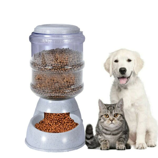 Pet Cat Dog Automatic Feeders Dispenser Automatic Gravity Feeders Bottle Stand $12.99
