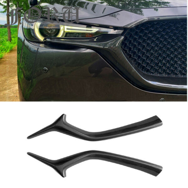 2PCS Carbon Pattern Front Grill Trim Strip Cover For Mazda CX 5 CX 8 2017 2020 $165.65