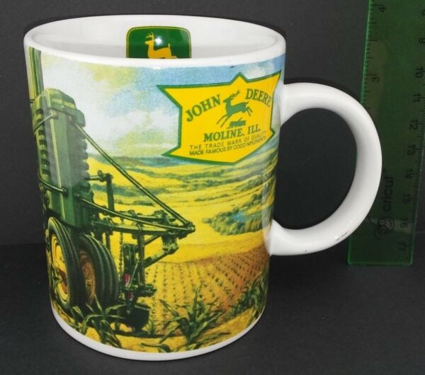 John Deere Moline Illinois Coffee Mug Cup Gibson Man Boy Dog Tractor $15.99