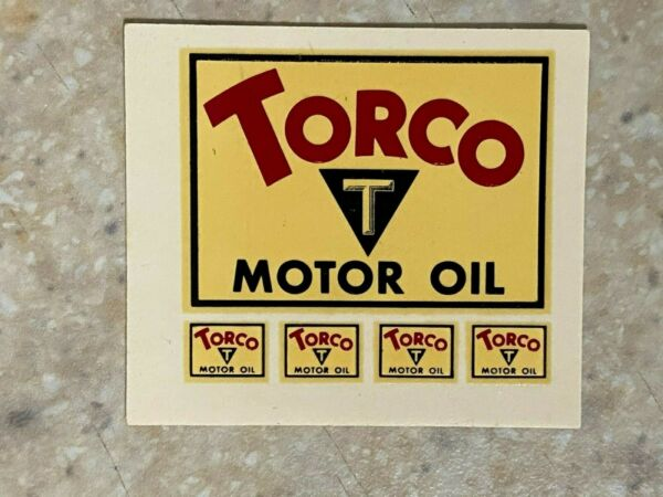 Torco Motor Oil Small Water Transfer Decal $4.00