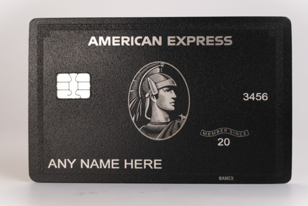 NEW 2020 Style American Black Card Express Centurion Card TITANIUM Perfect $149.00