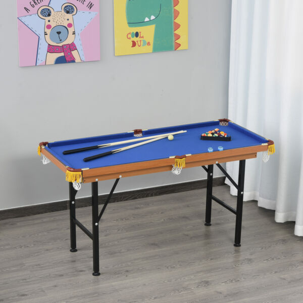 55quot; Small Play Billard Gaming Table with Full Set of Balls Brushes and Chalk $149.99