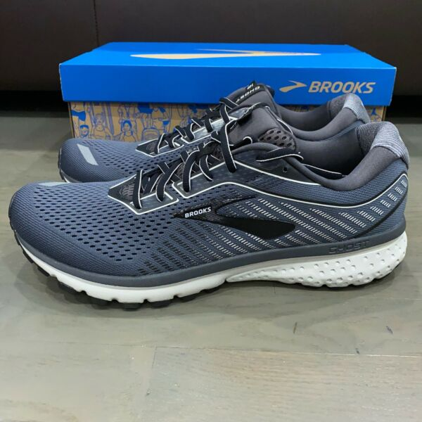 Brooks Ghost 12 Black Pearl Oyster Men's Running Shoe New D Width