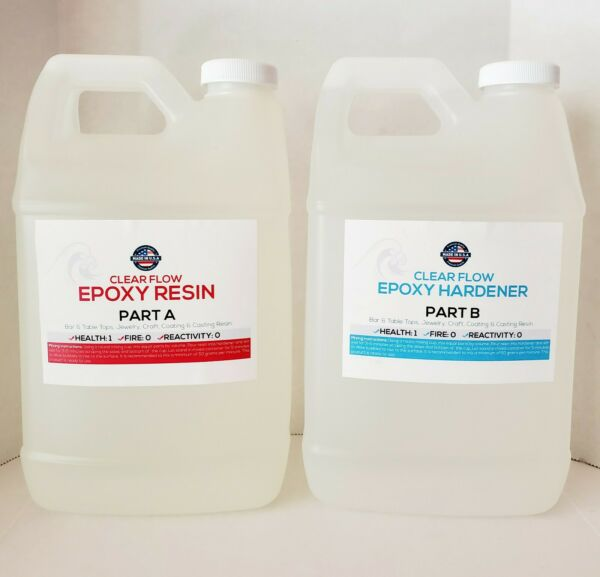 Crystal Clear Bar Table Top Epoxy Resin Coating For Wood Tabletop 1 Gallon T… $43.39