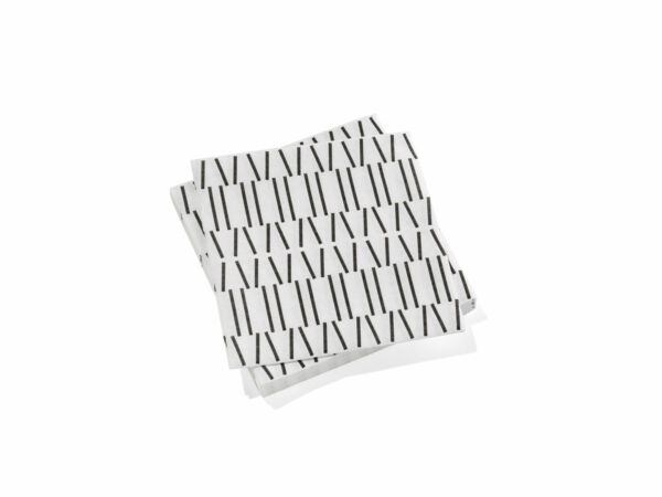 Authentic amp; New Vitra Paper Napkins: Broken Lines in Black Large