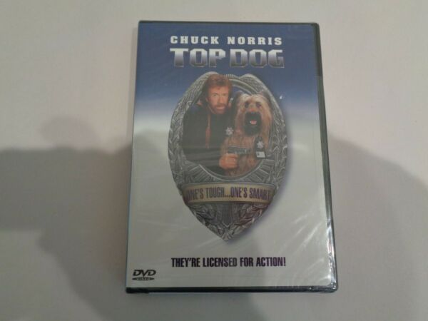 TOP DOG New DVD 2001 Sensormatic Chuck Norris $15.00