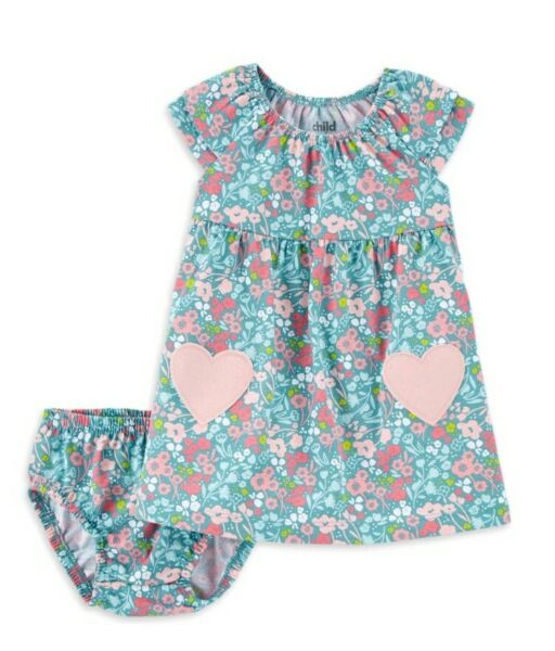 Baby Girls mint Bodysuit dress Size 6 9M