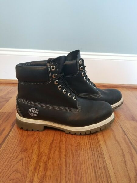 Timberland Size 10 M Black Leather 6 Inch Work Hiking Boots Style# 27023 $59.99