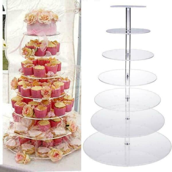 7 Tier Cupcake Stand Cake Dessert Wedding Event Party Display Tower Plate e 01