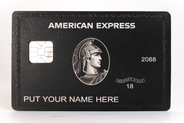 NEW 2020 Style American Black Card Express Centurion Card TITANIUM Large Chip $149.00