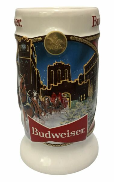 2020 Budweiser Holiday stein from annual Christmas series LATEST NEW BEER MUG