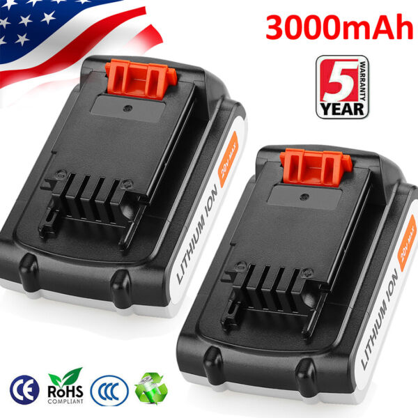 20V 3.0Ah for Blackamp;Decker 20Volt Lithium Battery LBXR20 LB20 LBX20 or Charger