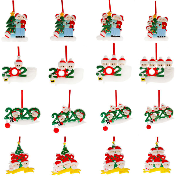 Personalized Christmas Hanging Ornament 2020 Mask Toilet Paper Xmas Family Gift $5.98