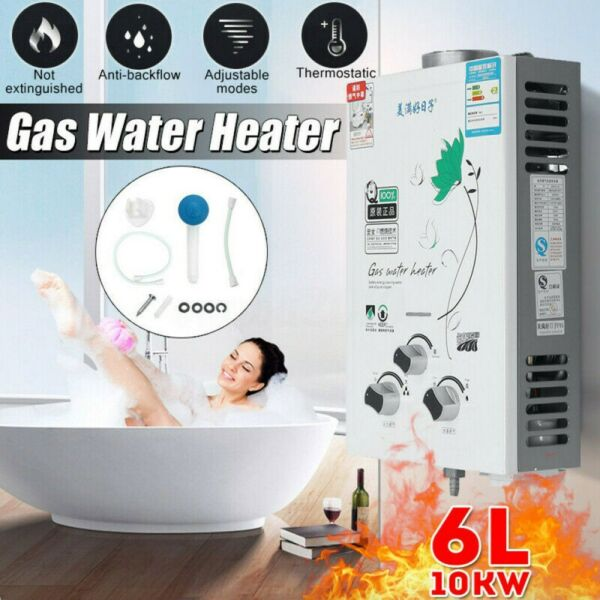6L Tankless Instant Water Heater Liquid Propane Gas Home Boiler with Shower Head $85.91