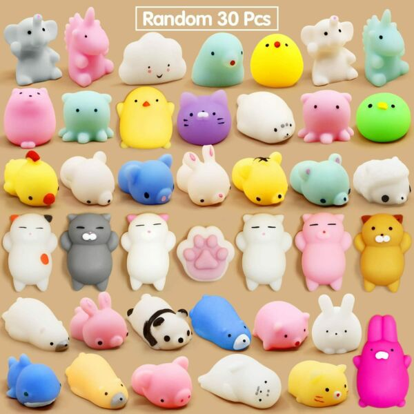 Lot of 72 Pcs Squishys Mini Mochi Toys Stress Relief Animal Toys Squeeze Toys