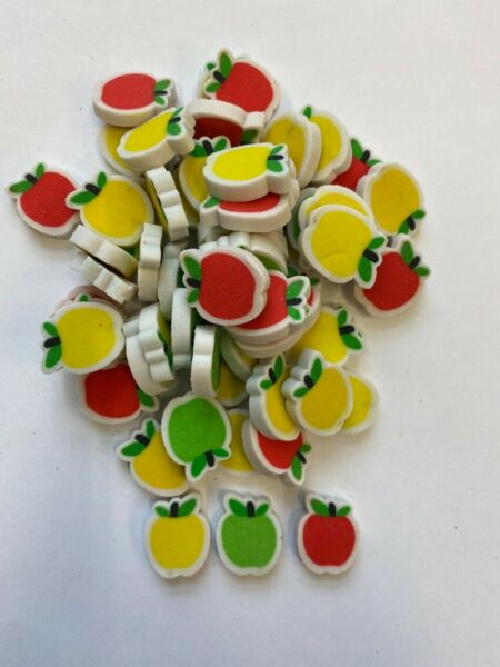 60 mini fall apples erasers teacher supply sorting math counter student rewards $6.50